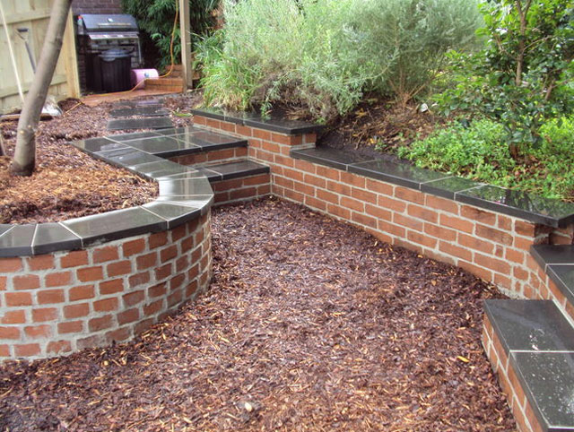 Retaining walls - Sleepers and Brick